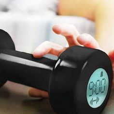 Fitness Alarm - Start every morning with a workout with Fitness Clock – where you may start every day with a quick pump of the iron. These dumbbell alarm clocks are perfect for waking yourself up. You better build your strength if you want some extra shut-eye. Fitness Clock will keep your body on time and in line.
