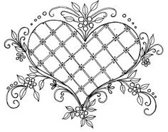 Free Hand Embroidery Patterns Heart   Embroidery Designs
