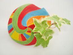 Pot de fleur rond en céramique multicolore . 1 : Accessoires de maison par crisland