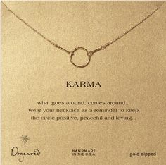 Alot of cute jewelry on this site http://www.dogeared.com/karma-necklace-gold-dipped---18-inch