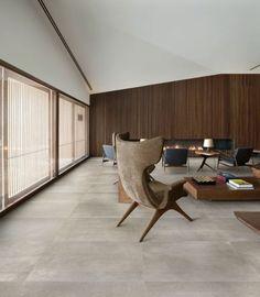 carrelage interieur, salon carreaux imitation beton grand format