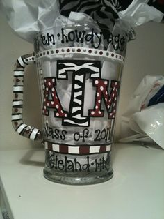 Texas A painted mug