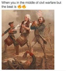 When you in the middle of civil warfare but the beat is on fire!