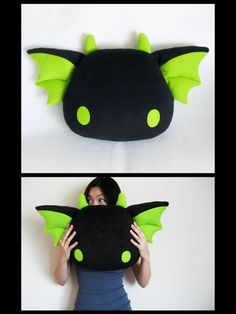 Zeek by ~melkatsa on deviantART dragon pillow - Plushies Cute Crafts, Felt Crafts, Fabric Crafts, Sewing Crafts, Diy And Crafts, Sewing Projects, Craft Projects, Kawaii Plush, Cute Plush