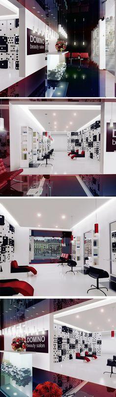 Domino beauty salon Interior Design