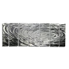 Statements2000 Silver Modern Etched Metal Wall Art Sculpture by Jon Allen…