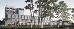 Areal Bülachguss Baufeld 1, Bülach ZH /// Das ehemalige Giessereiareal ist belebt und beliebt /// IttenBrechbühl baut und saniert im neuen Quartier in Bülach ein bestehendes Gebäude um, wo rund 3.850 qm für Läden, Gastronomie, Büro und Gewerbe entstehen. | IttenBrechbühl Felder, Residential Architecture, The Neighbourhood, Multi Story Building, Environment, Outdoor, Fine Dining, Most Popular, Round Round