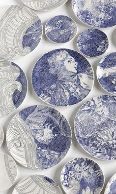 KATZE CAT Bunzlauer Keramik Polish Pottery Servierplatte Schale Snackteller