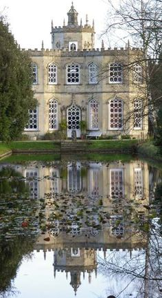 'The prettiest garden building in England,' Countrylife Magazine. The exquisite 18th century Orangery sits in the grounds of Frampton Court Estate, Gloucester, England.