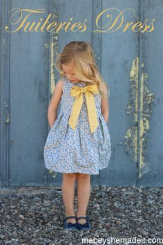 Kid's Clothes Week Begins (Tuileries Dress) - Mabey She Made It