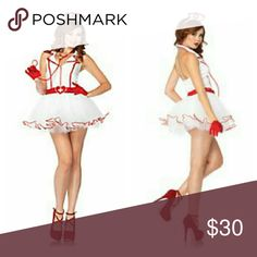 Ravishing RN nurse costume M L Ravishing RN nurse costume Sz M L 8 - 12 Includes dress, belt, hat New in package Spirit Dresses Mini