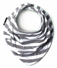 Another great find on #zulily! Gray & White Stripe Scarf Bib #zulilyfinds