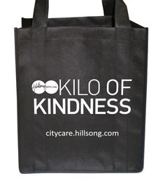 This is our 2013 Kilo of Kindness bag. For more information check out CityCare.hillsong.com Reusable Tote Bags, Community, Change, Check