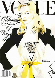 Vogue cover by David Downton