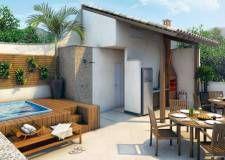 Cada casa com piscina e churrasqueira no terraço | Belle Ville