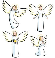 Angels vector 549476 - by Malchev on VectorStock®