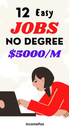 Are you looking for jobs that do not require a degree and pay good money? Here are 12 well paid jobs, part time and full time jobs for moms and dads, work from home jobs, and online jobs for moms that pay good money and require no degree. #jobsformoms #jobsfordads #jobsformen #paidjobs #jobsforcouples Online Jobs For Moms, Easy Online Jobs, Earn Money From Home, Way To Make Money, Jobs For Women, Part Time Jobs, Get What You Want, Jobs Hiring, Online Earning