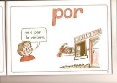 """Ficha para aprender el uso de la preposición """"por""""."""