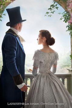Trevillion Images - victorian-couple-on-garden-terrace-outside