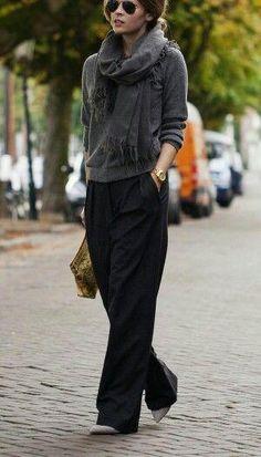 ガウチョの次はこれ?秋冬に履きたいワイドパンツのコーデカタログ♪|マシマロ