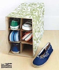 Готовая коробка для хранения обуви / Организованное хранение / Своими руками - выкройки, переделка одежды, декор интерьера своими руками - от ВТОРАЯ УЛИЦА