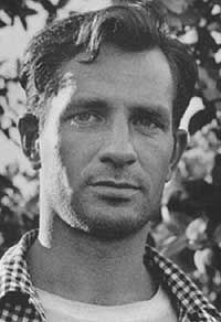 "Jack Kerouac (1922 - 1969) Important figure of the Beat generation, wrote ""On the Road"""