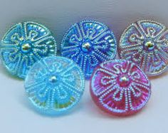 Image result for czech glass buttons