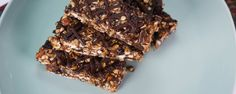 Chocolate oat breakfast bars