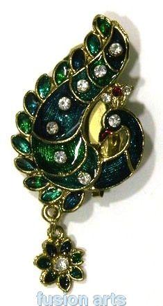 BEAUTIFUL PEACOCK SAREE PIN