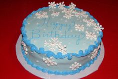 Winter Birthday Cake | Birthday cake for a lady whose birthday is the week before Christmas ...