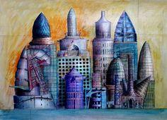 Collage de edificios 2007.A.L.Moure Strangis.