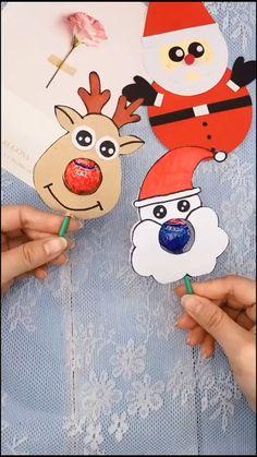 Diy Crafts For Kids Easy, New Year's Crafts, Diy Arts And Crafts, Creative Crafts, Kindergarten Crafts, Preschool Crafts, Christmas Paper Crafts, Kids Christmas, Art Drawings For Kids