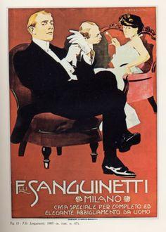 """Anno: 1905 Soggetto: """"F.lli Sanguinetti, Milano"""" - Stampa Chappuis, Bologna Provenienza: Raccolta Salce, Civico Museo Bailo, Treviso"""