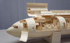 Detailed Airplane Made of Paper – Fubiz™