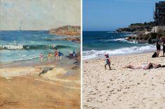 Now and then: what's changed since Arthur Streeton painted Sydney 130 years ago? Coogee Beach, Australian Art, Beach Scenes, Sydney Australia, Impressionist, Sailing, Art Gallery, Coast, Ocean