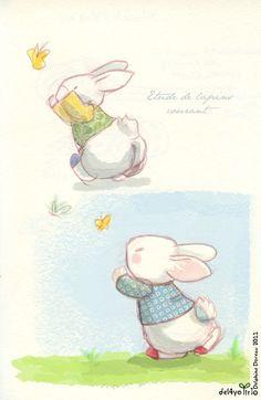 Le lapin dans la lune - Non dairy Diary - Etude