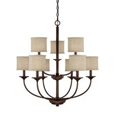 Loft Burnished Bronze Nine Light Chandelier Capital Lighting Fixture Company Candles W/ 8