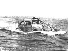 Volkswagen Beetle crossing the Irish Sea. Volkswagen New Beetle, Auto Volkswagen, Beetle Bug, Vw Beetles, Beetle Juice, Volkswagen Group, Vw Vintage, Vintage Photos, Irish Sea