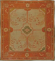Vintage Arts & Craft Rug  Size: 13' × 11'10'' Circa: 1910 An Arts & Crafts rug by Charles Voysey