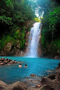 Rio Celeste waterfall. Costa Rica.