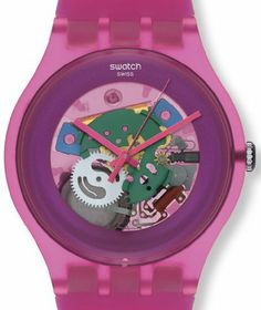Swatch Women's Originals SUOP100 Pink Plastic Quartz Watch with Pink Dial Swatch. $71.20. Dial color: pink. Model: SUOP100. Band color: pink. Condition:brand new with tags. Brand:SWATCH