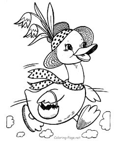 Easter Bunny Coloring Pages | BlueBonkers - Fluffy easter Bunny ...
