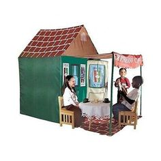 Kids Play Tent Adventure Expresso Cafe Playhouse Children Pretend Indoor Outdoor