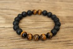 Lava tiger eye bracelet diffuser negative energy protection bracelet lava and tiger eye bracelet attract money bracelet stress relief gifts Bracelet Set, Bracelet Making, Jewelry Making, Bracelets For Men, Beaded Bracelets, Diamond Bracelets, Bangles, Stress Relief Gifts, Do It Yourself Jewelry