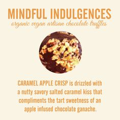 CARAMEL APPLE CRISP #truffle #organic #vegan #artisan #chocolate #fairtrade #sweetpotato #glutenfree #nongmo #soyfree #carrageenanfree #caramel #apple #grannysmith #saltedcaramel #applechip