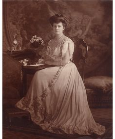 The late style icon and socialite Marjorie Merriweather Post as a Gibson Girl in 1905.
