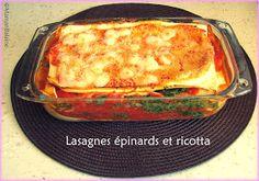 Journal d'une baleine chez Weight Watchers: Lasagnes épinards-ricotta - 8 PP / personne