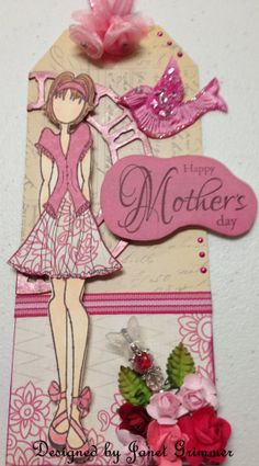 Happy Mother's Day Gift Tag or Card with Prima by HeavenlyMoments, $5.00