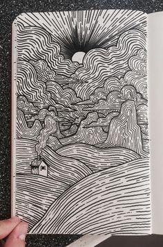 Arte digital, abstract drawings, ink pen art, ink pen drawings, brush pen a Ink Pen Art, Ink Pen Drawings, Cool Art Drawings, Art Drawings Sketches, Brush Pen Art, Abstract Drawings, Drawing Ideas, Tombow Brush Pen, Doodle Art Drawing