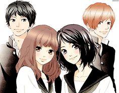 """Sakisaka Io's new manga: """"Omoi, Omoware, Furi, Furare"""""""